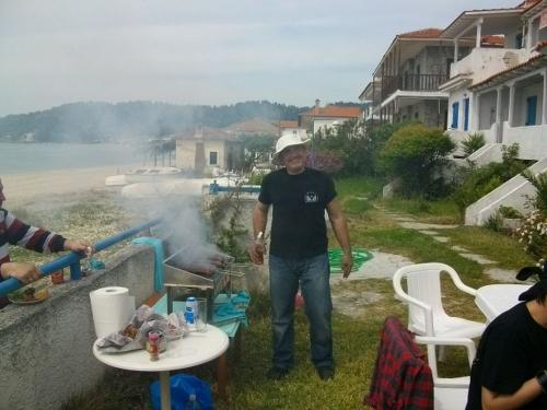 Cheverme party Fourka beach